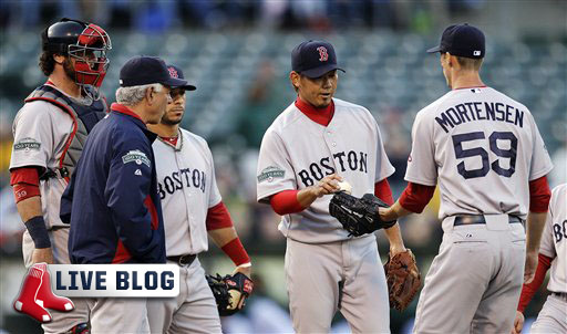 Red Sox Live Blog: Sox Can't Overcome Poor Start by Daisuke Matsuzaka, Stalled Offense in 6-1 Loss to A's