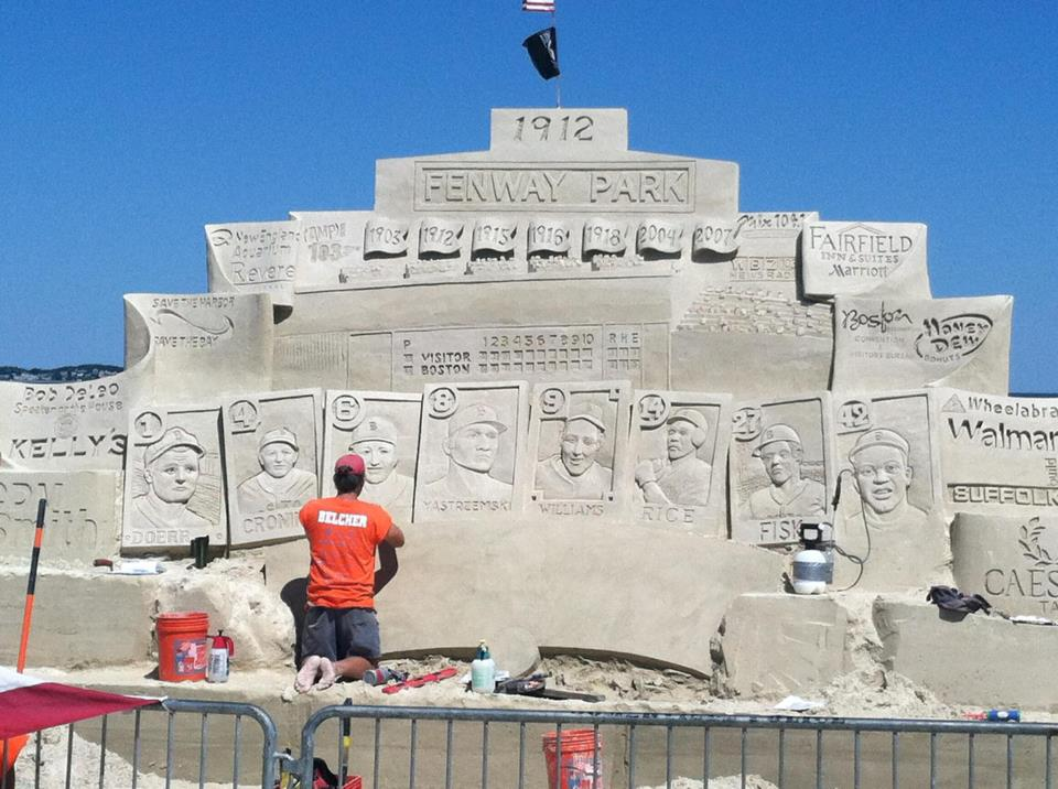 Fenway Park, Red Sox Celebrated With Insane Sand Sculpture at Revere Beach (Photo)