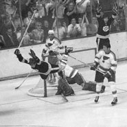 Is Bobby Orr's Famous Goal or Carlton Fisk Waving World Series Home Run Fair a Bigger Boston Sports Moment?