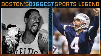 Is Bill Russell or Adam Vinatieri a Bigger Boston Sports Legend?