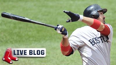 Red Sox Live Blog: Adrian Gonzalez's Four RBIs, Jon Lester's 12 Strikeouts Lead Boston Past Cleveland 14-1