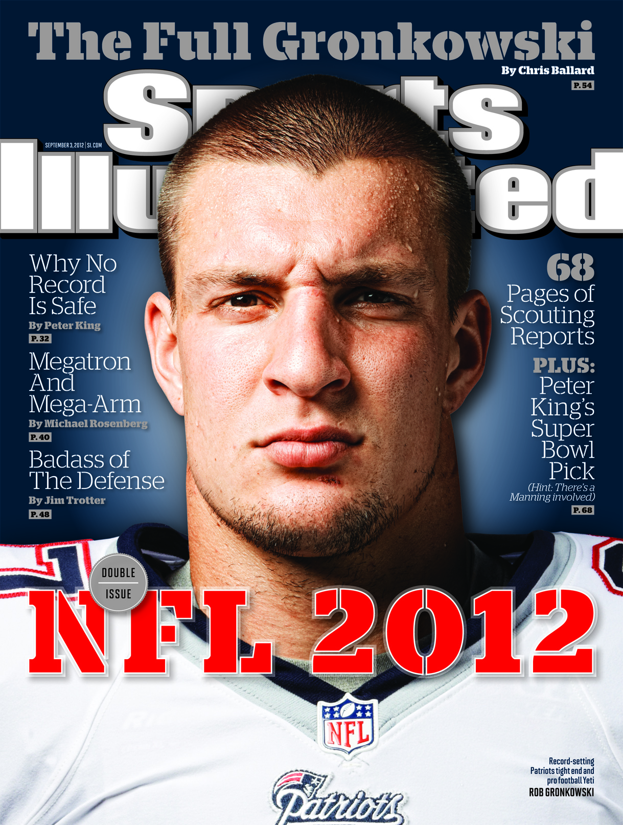 Rob Gronkowski Lands on Cover of Sports Illustrated NFL Preview Issue (Photo)