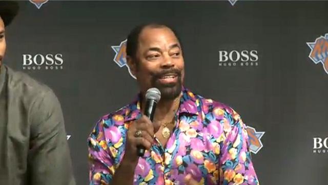 Walt Frazier, One of NBA's Best-Dressed Legends, Wears Hideous Shirt to Knicks Jersey Unveiling (Photo)