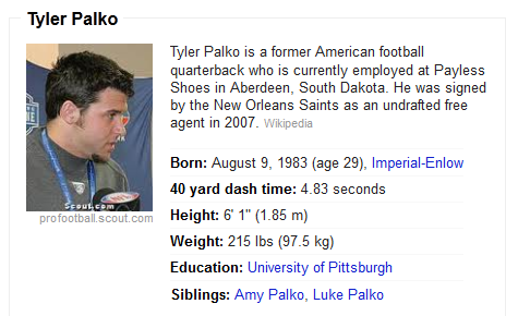 Tyler Palko's Wikipedia Profile Says He's Working at Payless Only Months After Starting at Quarterback for Chiefs