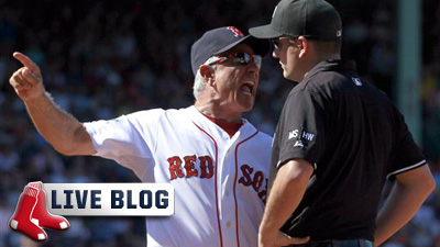 Red Sox Live Blog: Bobby Valentine, Dustin Pedroia Show Fire to Push Red Sox to Grinding 8-6 Win
