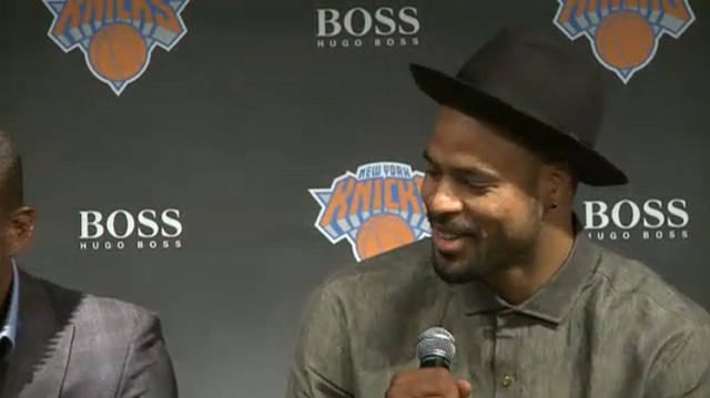 Tyson Chandler Rocks Smooth Wide-Brimmed Fedora to Knicks Jersey Unveiling (Photo)