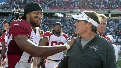 Larry Fitzgerald Continues Love Affair With Bill Belichick, Calls Him 'Best Coach in History'
