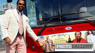 Walt Frazier Firms Up Legend Status With Honor by Gray Line New York Bus Service (Photos)