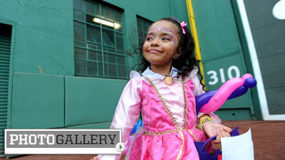 Red Sox Welcome Trick-or-Treaters to Fenway Park to Celebrate Halloween at 100-Year-Old Ballpark (Photos)