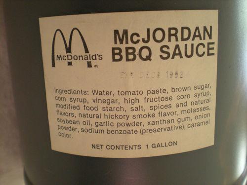 Michael Jordan's 'McJordan BBQ Sauce' From 1992 McDonald's Sandwich Hits eBay For $9,995 (Photo)