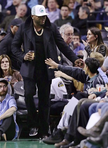 David Ortiz Watches Celtics Melt Against Bucks at TD Garden on Same Night He Re-Ups With Red Sox (Photo)