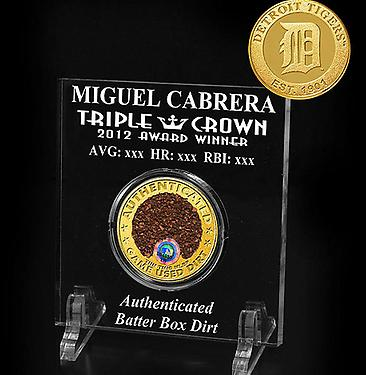 Miguel Cabrera Triple Crown Batter's Box Dirt Sold by MLB for $40 (Photo)