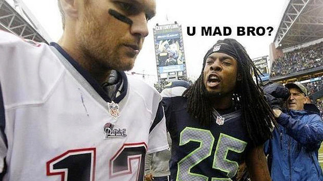 Richard Sherman Taunts Tom Brady After Seahawks Beat Patriots (Photo)