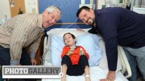 Joe Andruzzi, Lenny Clarke Help Spread Holiday Cheer at Boston Children's Hospital (Photos)