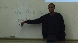 Rajon Rondo Teaches Some Algebra During Stop at Burke High School (Photo)