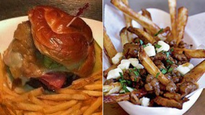 Is CBS Scene's Pastrami Burger or Dillon's Back Bay Fries and Gravy the Better Sports Bar Dish?