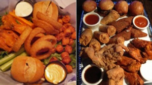 Is the Pour House's All-Star Sampler or The North Star's Joey Chestnut Sampler the Better Sports Bar Dish?