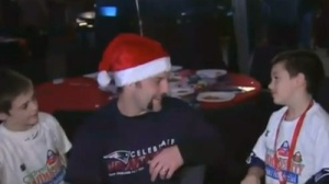 Patriots Host 19th Annual Children's Holiday Party With 'Wrap-A-Pat' Game to Benefit Salvation Army (Video)