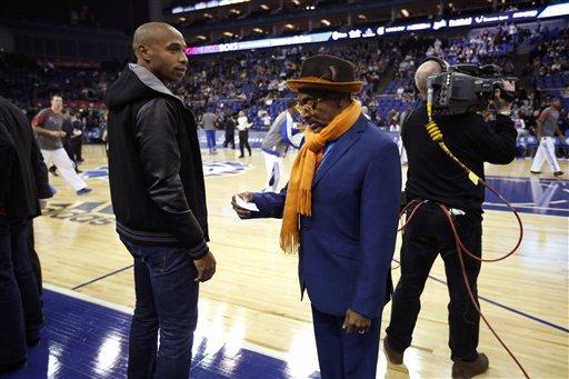 Britain Pistons Knicks Basketball
