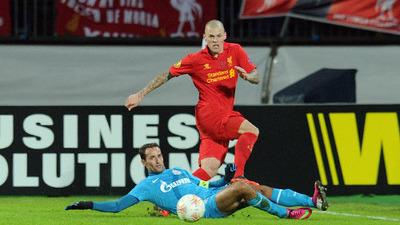 Martin Skrtel and Roman Shirokov