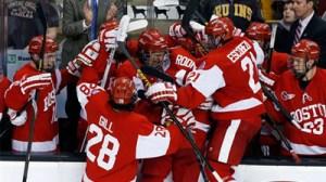 Boston University Hockey Team Impresses During Travis Roy's Boston Wiffleball Challenge (Video)