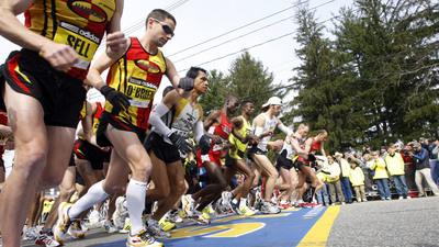 Boston Marathon Men's Elite Runners
