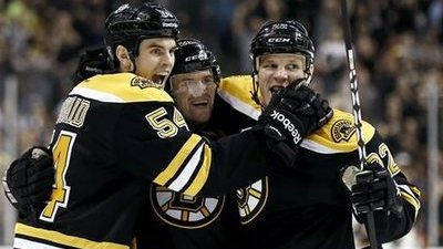 Daniel Paille, Shawn Thornton, Adam McQuaid