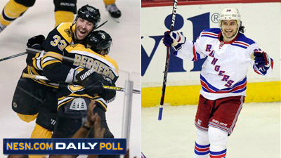 Bruins Rangers Daily Poll