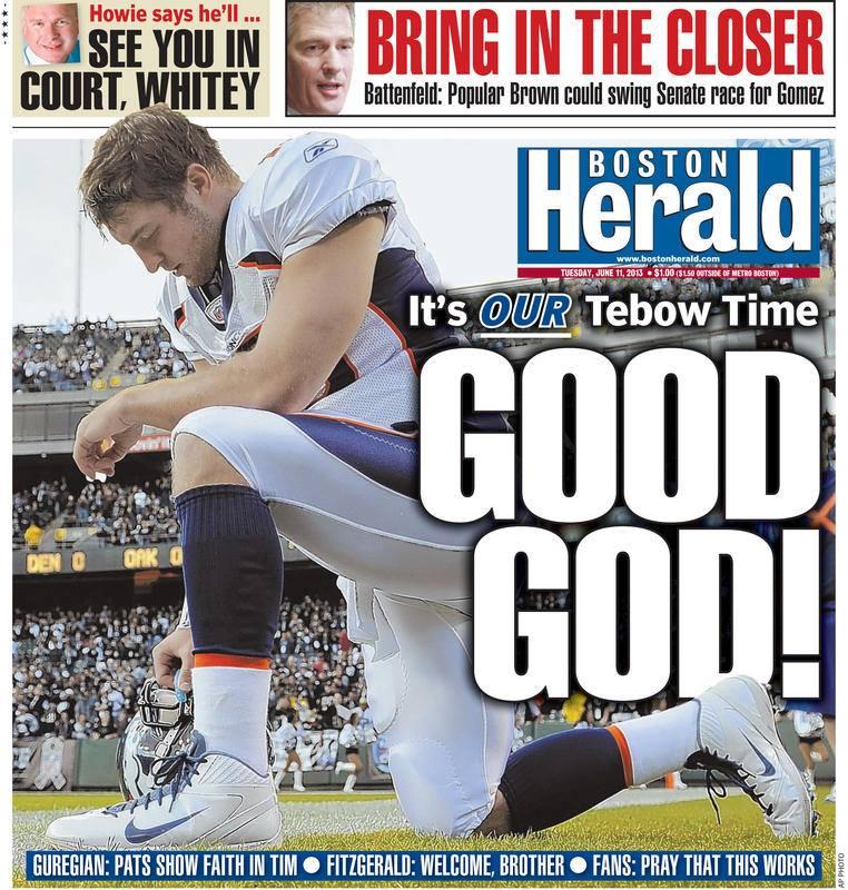 Boston Herald Tim Tebow