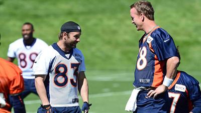 Wes Welker, Peyton Manning