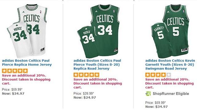 Celtics team store sales