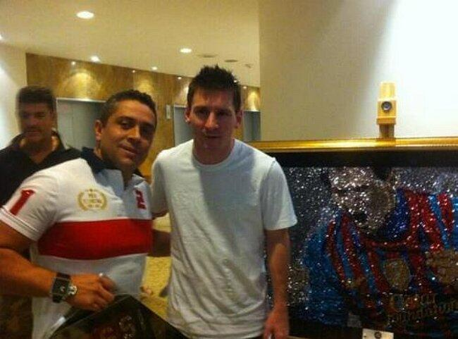 Lionel Messi and Mr. Bling