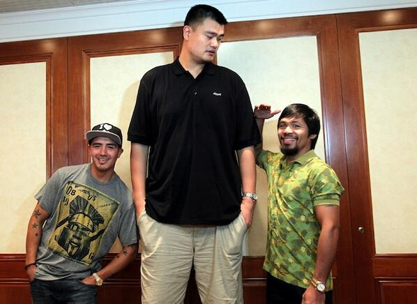 Yao Ming Manny Pacquiao
