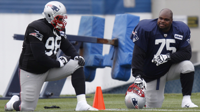 Vince Wilfork, Marcus Forston, Justin Francis
