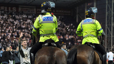 Police horse Preston - Blackpool