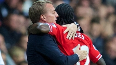 Brendan Rodgers and Victor Moses