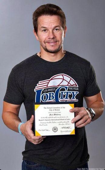 Mark Wahlberg diploma