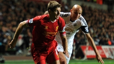 Steven Gerrard and Jonjo Shelvey
