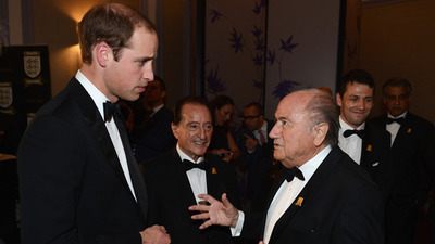 Sepp Blatter and Prince William