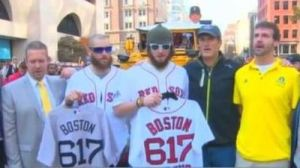 Jarrod Saltalamacchia Describes Red Sox' Championship Parade as 'Unbelievable, Deserving Experience for Fans, for Us' (Video)