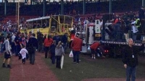 Dropkick Murphys' Truck Gets Stuck in Mud Inside Fenway Park, Towed to Safety by Duck Boat (Photo)
