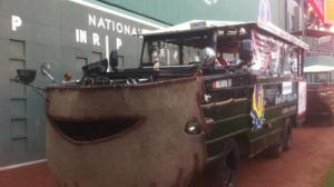 Duck Boats Participating in Red Sox' Championship Rolling Rally Sport Beards (Photo)