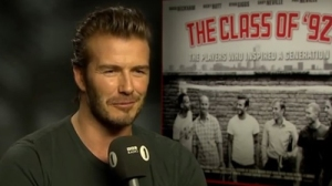 David Beckham Says He's an 'Emotional Wreck' When Watching 'Friends,' 'The Office,' 'Armageddon' (Video)