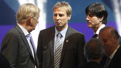Jurgen Klinsmann, Joachim Low and Volker Finke