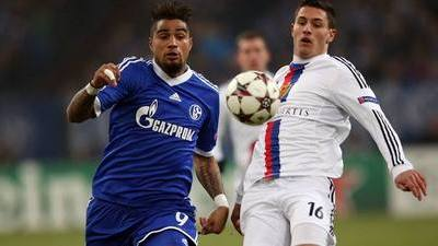 Kevin-Prince Boateng and Fabian Schar