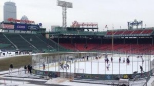 Hockey East Commissioner Joe Bertagna Says Challenge At Frozen Fenway 'Keeping the Puck Playable' Amid Rainy Conditions