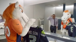 Broncos' Mascot, Miles, Forced To Wear Seahawks Jersey After Super Bowl Loss (Video)