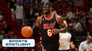LeBron James Wears Batman-Style Mask After Breaking Nose (Photo)