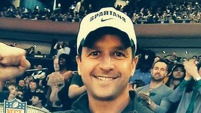 John Harbaugh's Michigan State Hat Doesn't Sit Well With Brother-In-Law Tom Crean (Photo)
