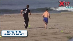 Tom Brady Works Out At Beach, Appears To Be Running In Slow Motion (Video)